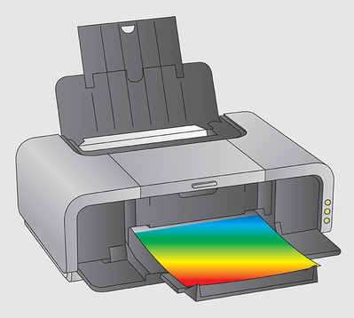 How the printer works after removing the jammed paper from the printer