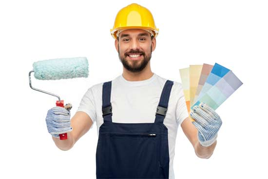 The attire of the professional painters