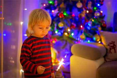 When should we stop the use of night lights in the baby's room